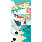 DISNEY serviette drap de bain plage 70 x 140 cm OLAF la reine des neiges neuve