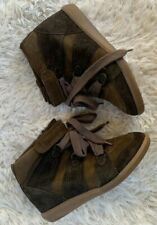"""Isabel Marant """"Bobby"""" Green Suede Wedge Sneaker, Size 9"""