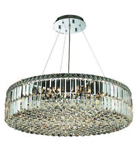 "Palace Park Ave  18 Light 32"" Round Crystal Chandelier Dining Ceiling Light"