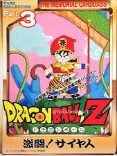 Dragon Ball Z Original Japanese Memorial Carddass Jumbo Card Part 3