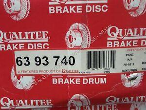 Qualitee D93740 Rear Brake Drum C2500 K1500 K2500 G20 G2500 1/2 3/4 Ton 4x4 4x2