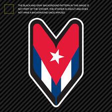 Cuban Driver Badge Sticker Die Cut Decal wakaba leaf soshinoya cuba