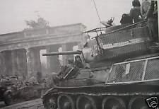 B&W WWII Photo Russian Armor in Berlin 1945 WW2 World War Two Germany Wehrmacht
