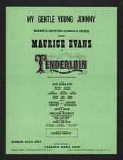 My Gentle Young Johnny 1960 Tenderloin Sheet Music