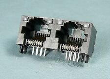 Molex 0442480009, 6-position dual port RJ11,12,14,25 jacks with lite pipe, Qty 8