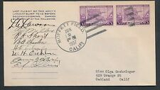 1937 COVER CARRIED ON TC-13 BLIMP - CREW SIGNED - RARE!! BP1246