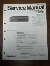 Quasar Service Manual for Model BS108 Power Amplifier