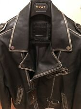 ZARA BLACK LEATHER BIKER JACKET XL