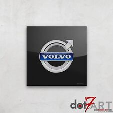"""24""""X24"""" Volvo  Badge Luxury Black Open Edition Print"""