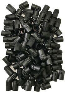 (100) Long Plastic Black Sealing Tire Cap for TR20008 TPMS Valve Stem