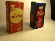 Vintage Coffee Box  Windsor Brand Mobile Alabama1940s-1950s 2 boxes