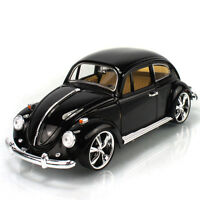 Quality 1:18 Metal Diecast Model Volkswagen Beetle 1967 Car Toy Black Xmas Gift