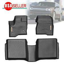 Floor Mats for 2011-2019 Ford Flex Heavy Duty Rubber All Weather Protection