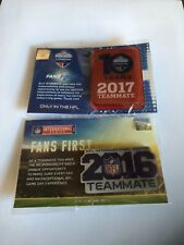 Official NFL Teammate Badges!! 2016 and 2017 bundle!! mint condition!!