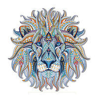Lion Head Patches Embroidered Iron On Applique Patches Badge