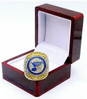 2019 ST LOUIS BLUES NHL STANLEY CUP CHAMPIONSHIP RING SIZE 15 W/WOOD DISPLAY BOX