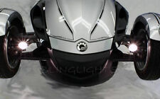 Can-Am Spyder Roadster Trike White LED Driving Lights Fog Lamps Drivinglights
