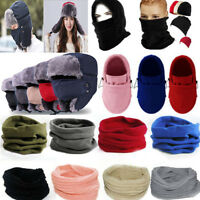 Solid Mens Womens Balaclava Mask Hat Warm Neck Scarf Snood Hood Scarves Headgear
