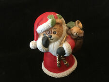 Lucy & Me Christmas Santa Bear With Finger At Nose Lucy Rigg Enesco 1987 Rare