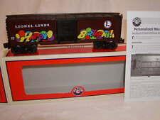 Lionel 6-81256 Happy Birthday Personalized Message Box Car O 027 Shop Display