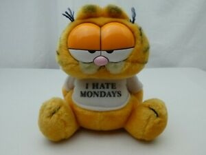 RETRO GARFIELD CUTE PLUSH I HATE MONDAYS VINTAGE FROM 1980s