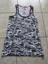 Max Azria Miley Cyrus Colletion Army Black White Tank Top Size M Medium L Large