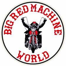"""043 HELLS ANGELS Support 81 Sticker Aufkleber """"Big Red Machine WORLD"""""""