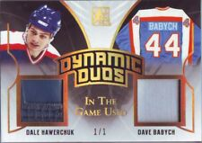 2017-18 Leaf ITG Used Dynamic Duos Hawerchuk / Babych Prime Gold 1/1!! RARE Jets