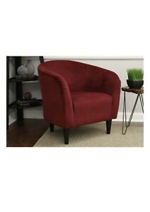 Living Room Microfiber Chair - Berry Red