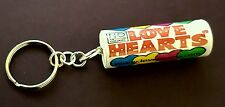 Handmade Novelty Packet of Love Heart Sweets Keyring/Bag Charm