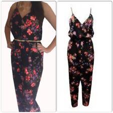 0ab94443978 John Zack of London black flower floral jumpsuit Jump suit Size 8 NEW