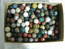 Marbles Agate And Or Jasper Natural Gemstones 6 Of 5/8 inch to 3/4 Vintage