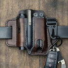 EDC Pocket Leather Sheath For Blet Knife Tool Flashlight Tactical Pen Holster