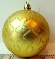 Gold Ball Ornament Glitter Designs Vintage Christmas Decoration