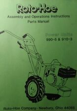 Roto Hoe 990 5 910 3 Walk Behind Tractor Amp Implement Owner Amp Parts 6 Manual S
