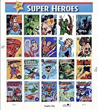 DC Super Heroes sellos de EE. UU. 20 X 41 Scott # 4084 Batman Superman Flash Nuevo estampillada sin montar o nunca montada