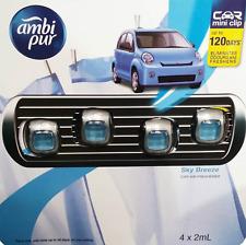 NEW Ambi Pur Car Mini Clip Air Freshener 4 x 2 mL Set Sky Breeze *FREE AU POST!*