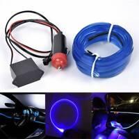 Blue 5M 12V Car Interior Decorative LED Wire Atmosphere Cold Light Strip Lamp AU