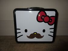Loungefly (Sanrio 1976) HELLO KITTY w/ MUSTACHE Metal Lunchbox ~ NEW! from 2012
