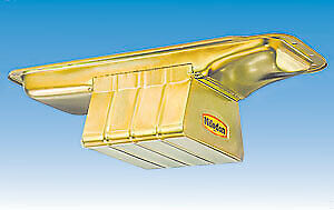 Milodon 30930 Steel, Gold Zinc Plated Street and Strip Oil Pan for Big Block Mo