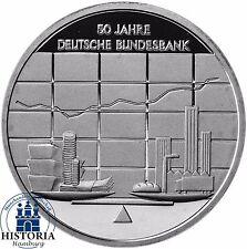Deutschland 10 Euro Deutsche Bundesbank 2007 Silber-Gedenk-Münze Spiegelglanz