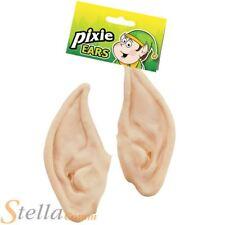 Flesh Elf Pixie Fairy Pointed Spock Ear Tips Fancy Dress Costume Accessory