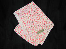 DWELL STUDIO BABY GIRL BLANKET TULIP WHITE FUCHSIA HOT PINK FLOWER FLANNEL