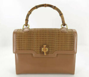 Vintage Gucci Bamboo Top Handle Bag