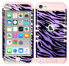 For Apple iPod Touch iTouch 5   6 - KoolKase Hybrid Cover Case - Zebra Purple