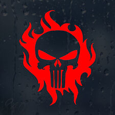 Fire Flames Punisher Skull Car Decal Vinyl Sticker For Bumper Window