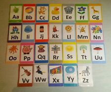A-Z Alphabet Flash Cards Set - Educational Learning Picture & Letter Card Pack