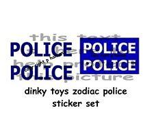DINKY TOYS POLICE STICKER SET ZODIAC