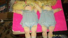 CABBAGE PATCH KIDS SOFT SCULPTURE DOLL TWIN GIRLS W/ BIRTH/ADOPT CERTS BLOND