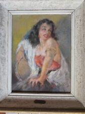 Pastel sur toile Yves Dieÿ - Diey - Gitane - Espagnole - Andalousie - Encadré